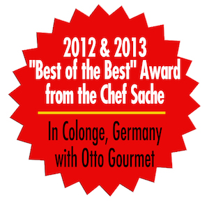 Awarded 'Best of the Best' Award from Chef Sache