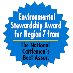 Environmental Stewardship Award for Region 7 from The National Cattlemans Beef Association